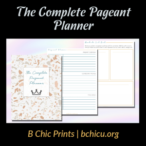The Complete Pageant Planner | B Chic Prints - An Etsy Shop