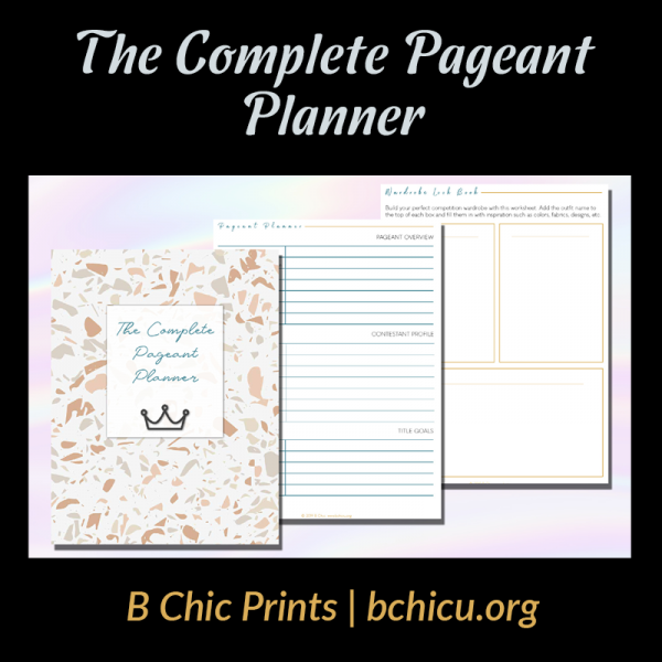 The Complete Pageant Planner   B Chic Prints - An Etsy Shop